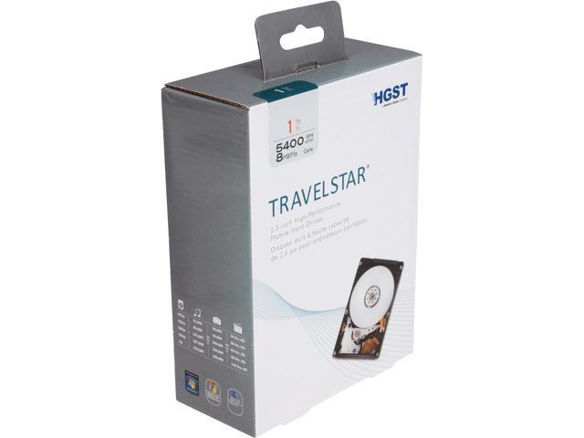 HGST Travelstar H2IK1000854SP (0S03508) 1TB 5400 RPM 8MB Cache SATA 6.0Gb/s 2.5