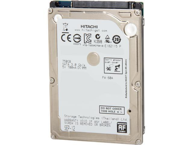 HGST 0J11563 750GB 5400 RPM 8MB Cache SATA 3.0Gb/s 2.5