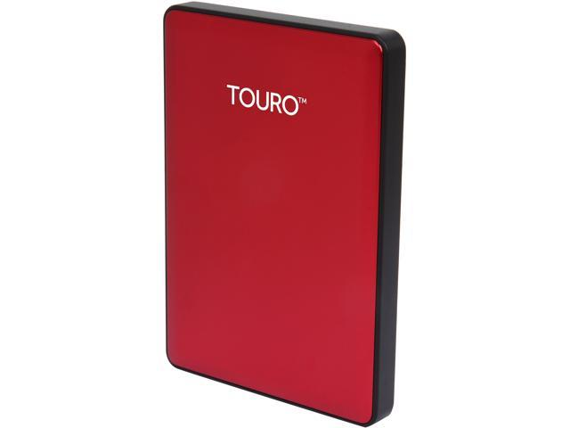 HGST 500GB TOURO S High-Performance Ultra-Portable Drive USB 3.0 Model 0S03782(HTOSPC5001BCB) Red