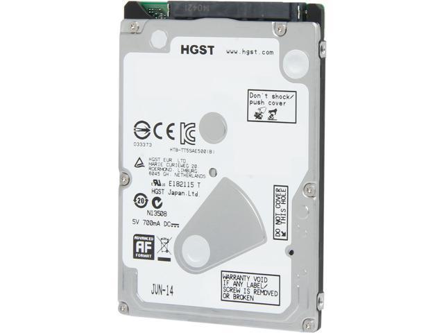 HGST Travelstar Z5K500 HTS545050A7E680(0J38065) 500GB 5400 RPM 8MB Cache SATA 6.0Gb/s 2.5