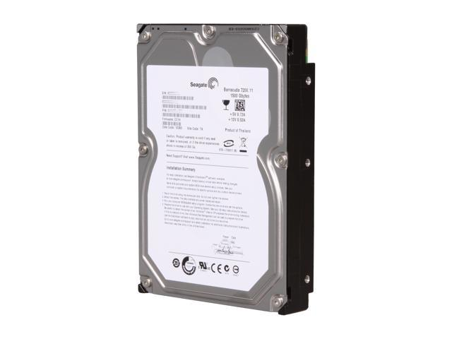 Seagate BarraCuda 7200.11 ST31500341AS 1.5TB 7200 RPM 32MB Cache SATA 3.0Gb/s 3.5