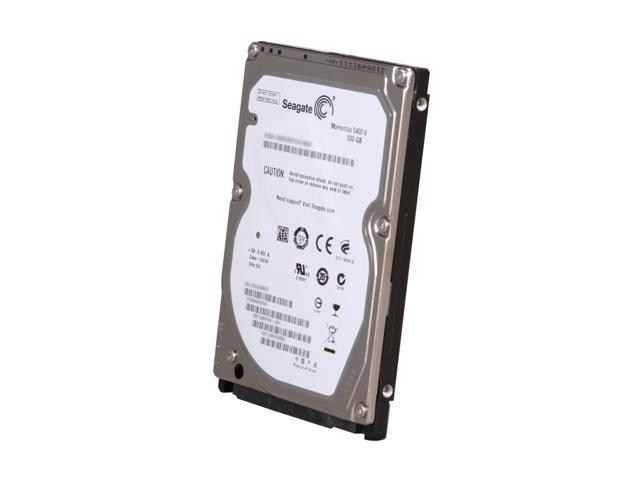 "Seagate Momentus 5400.6 ST9500325AS 500GB 5400 RPM 8MB Cache SATA 3.0Gb/s 2.5"" Internal Notebook Hard Drive Bare Drive"