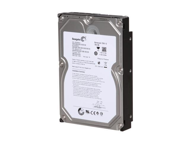 "Seagate Barracuda 7200.12 ST3750528AS 750GB 7200 RPM 32MB Cache SATA 3.0Gb/s 3.5"" Internal Hard Drive Bare Drive"
