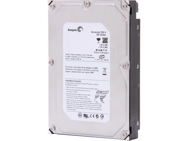 Seagate Barracuda 7200.9 ST3500641AS 500GB 7200 RPM 16MB Cache SATA 3.0Gb/s 3.5