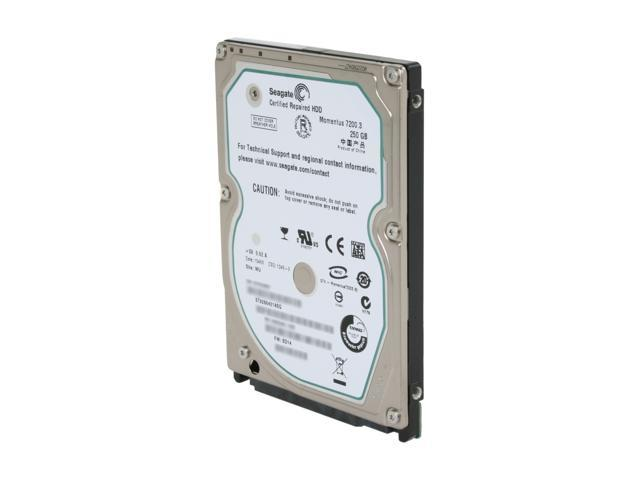 "Seagate ST9250421ASG 250GB 7200 RPM SATA 3.0Gb/s 2.5"" Internal Notebook Hard Drive Bare Drive"