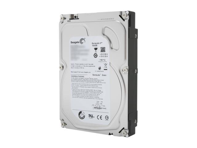 "Seagate Barracuda Green ST1500DL003 1.5TB 5900 RPM 64MB Cache SATA 6.0Gb/s 3.5"" Internal Hard Drive Bare Drive"