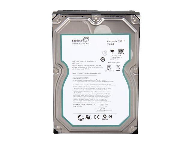 "Seagate Barracuda 7200.12 ST3750528AS 750GB 7200 RPM 32MB Cache SATA 3.0Gb/s 3.5"" Internal Hard Drive -Bare Drive"