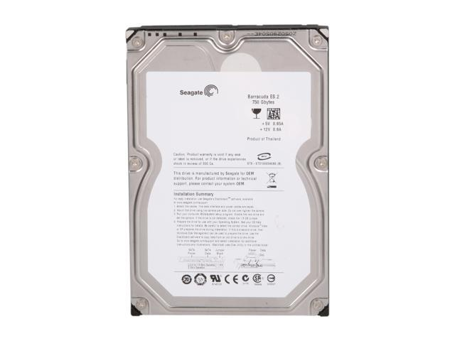 "Seagate Barracuda ES.2 ST3750330NS 750GB 7200 RPM 32MB Cache SATA 3.0Gb/s 3.5"" Internal Hard Drive Bare Drive"