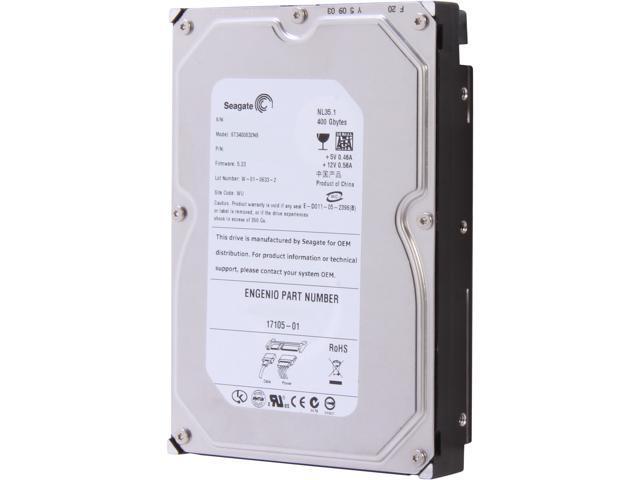 "Seagate NL35 ST3400832NS 400GB 7200 RPM 8MB Cache SATA 1.5Gb/s 3.5"" 24x7 working Hard Drive Bare Drive"