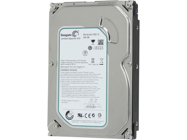 Seagate Barracuda 7200.12 ST3500413AS 500GB 7200 RPM 16MB Cache SATA 6.0Gb/s 3.5
