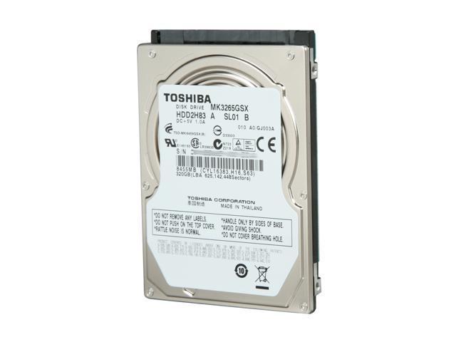 TOSHIBA MK3265GSX 320GB 5400 RPM 8MB Cache SATA 3.0Gb/s 2.5