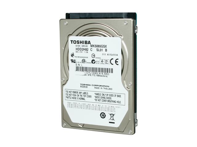 TOSHIBA MK5065GSX 500GB 5400 RPM 8MB Cache SATA 3.0Gb/s 2.5