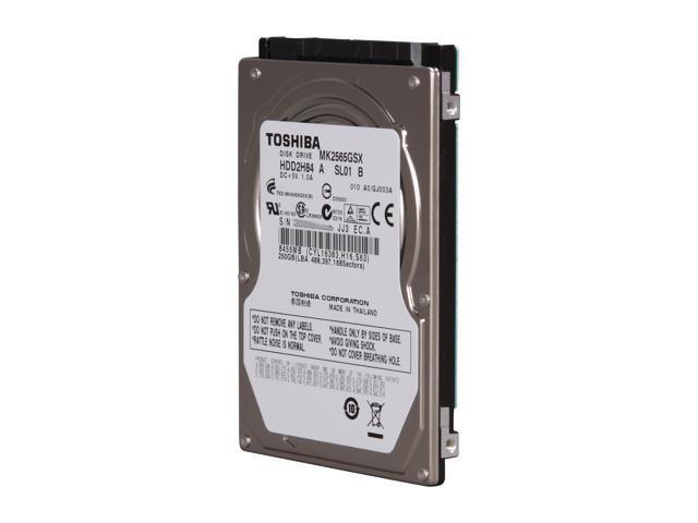 TOSHIBA MK2565GSX 250GB 5400 RPM 8MB Cache SATA 3.0Gb/s 2.5