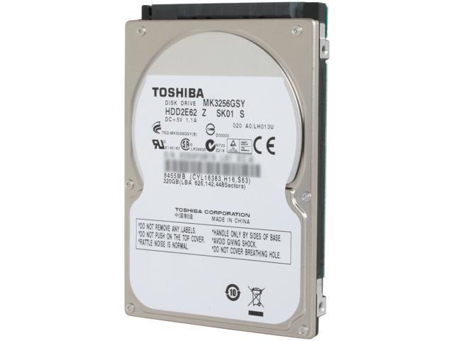 "TOSHIBA MK3256GSY 320GB 7200 RPM 16MB Cache SATA 3.0Gb/s 2.5"" Internal Notebook Hard Drive Bare Drive"