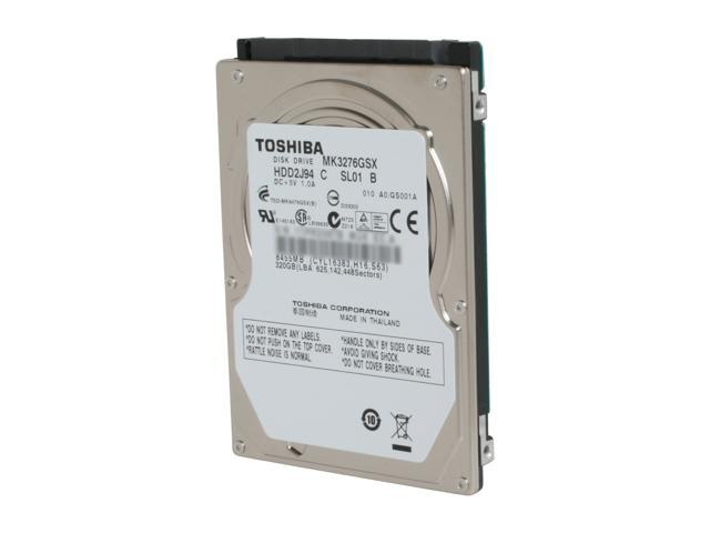 TOSHIBA MK3276GSX 320GB 5400 RPM 8MB Cache SATA 3.0Gb/s 2.5