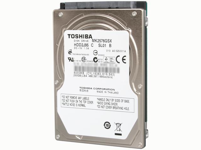 TOSHIBA MK2576GSX 250GB 5400 RPM 8MB Cache SATA 3.0Gb/s 2.5
