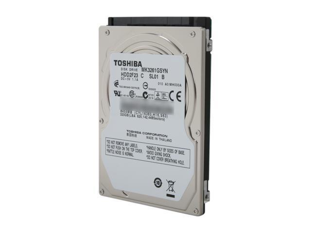 "TOSHIBA MK3261GSYN 320GB 7200 RPM 16MB Cache SATA 3.0Gb/s 2.5"" Internal Notebook Hard Drive"