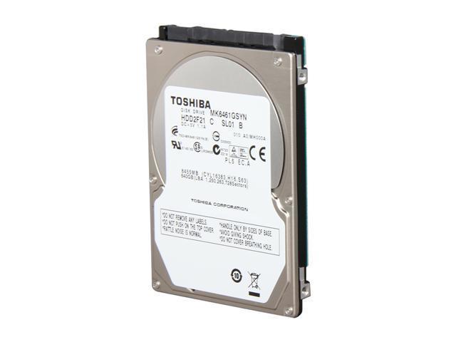 TOSHIBA MK6461GSYN 640GB 7200 RPM 16MB Cache SATA 3.0Gb/s 2.5