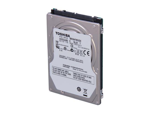 "TOSHIBA MK6476GSX 640GB 5400 RPM 8MB Cache SATA 3.0Gb/s 2.5"" Internal Notebook Hard Drive Bare Drive"