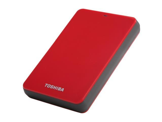 TOSHIBA 1TB Canvio 3.0 Portable Hard Drive USB 3.0 Model HDTC610XR3B1 Red