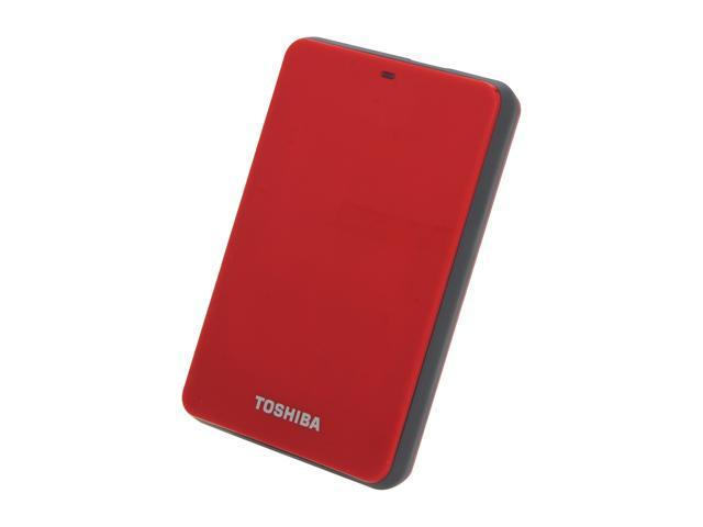 TOSHIBA 500GB Canvio 3.0 Portable Hard Drive USB 3.0 Model HDTC605XR3A1 Red