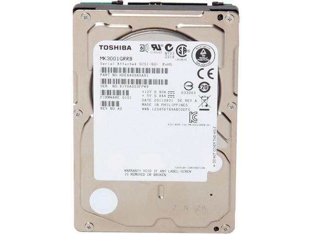 "TOSHIBA MK1401GRRB 147GB 15000 RPM 32MB Cache SAS 6Gb/s 2.5"" Enterprise Hard Drive"