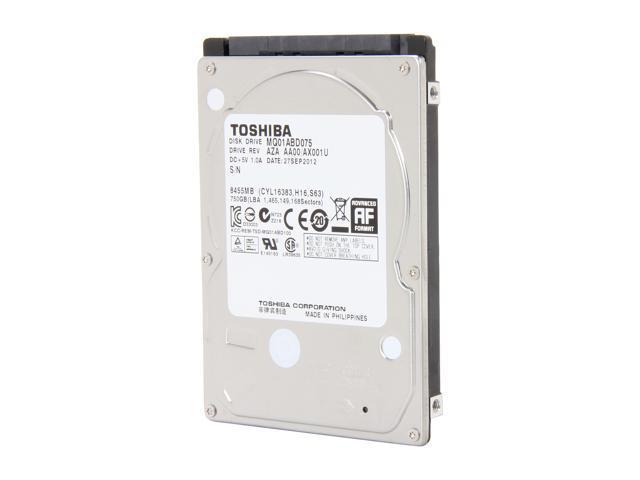 TOSHIBA MQ01ABD075 750GB 5400 RPM 8MB Cache SATA 3.0Gb/s 2.5