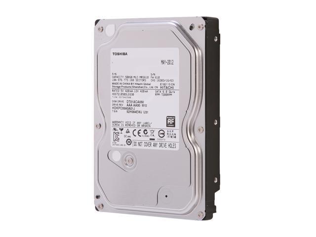 TOSHIBA DT01ACA050 500GB 7200 RPM 32MB Cache SATA 6.0Gb/s 3.5