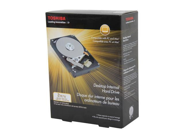 TOSHIBA PH3200U-1I72 2TB 7200 RPM 64MB Cache SATA 6.0Gb/s 3.5 inch Desktop Internal Hard Drive Retail Kit