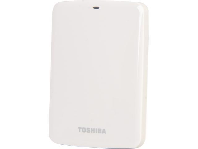 TOSHIBA 500GB Canvio Connect External Portable Hard Drive USB 3.0 Model HDTC705XW3A1 White