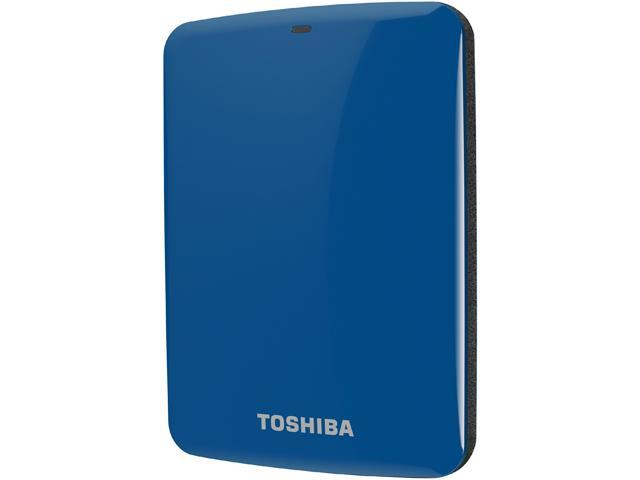 TOSHIBA 750GB Canvio Connect External Hard Drive USB 3.0 Model HDTC707XL3A1 Blue