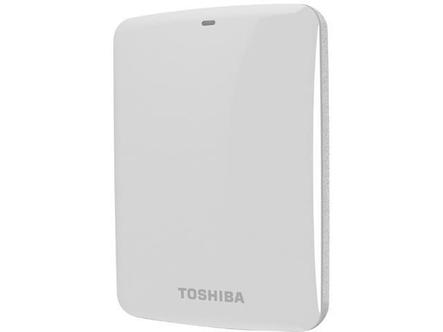 TOSHIBA 750GB Canvio Connect External Hard Drive USB 3.0 Model HDTC707XW3A1 White