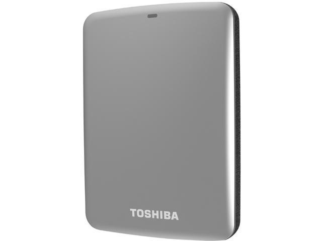 TOSHIBA 750GB Canvio Connect External Hard Drive USB 3.0 Model HDTC707XS3A1 Silver