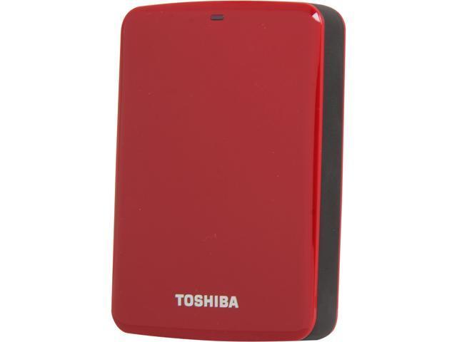 TOSHIBA 1.5TB Canvio Connect External Hard Drive USB 3.0 Model HDTC715XR3C1 Red
