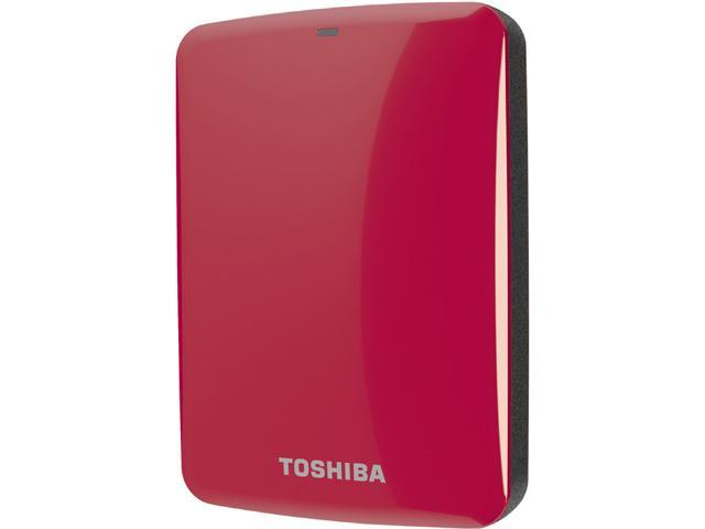 TOSHIBA 2TB Canvio Connect External Hard Drive USB 3.0 Model HDTC720XR3C1 Red