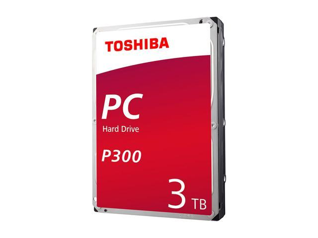 Toshiba P300 3TB PC Desktop Hard Drive 7200 RPM 64MB Cache SATA 6.0Gb/s 3.5 Inch Internal Hard Drive Retail Packaging HDWD130XZSTA