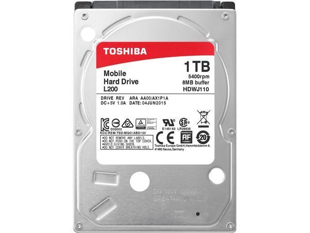 Toshiba L200 1tb Laptop Pc Internal Hard Drive 5400 Rpm Sata 3gb S