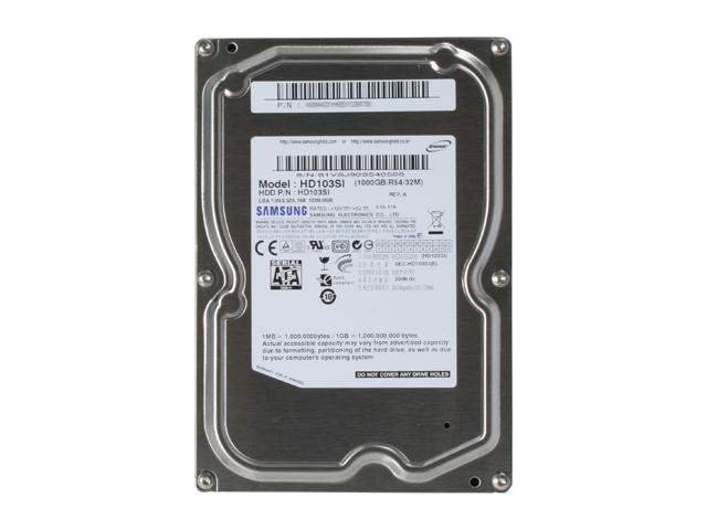 SAMSUNG EcoGreen F2 HD103SI 1TB 5400 RPM 32MB Cache SATA 3.0Gb/s 3.5