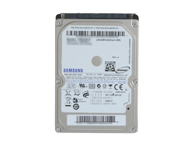 """SAMSUNG Spinpoint M7 HM250HI 250GB 5400 RPM 8MB Cache SATA 3.0Gb/s 2.5"""" Notebook Hard Drive Bare Drive"""