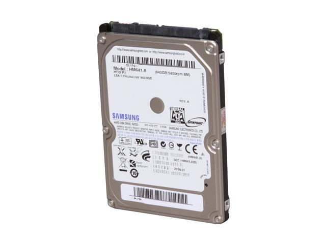 "SAMSUNG Spinpoint M7E HM641JI 640GB 5400 RPM 8MB Cache SATA 3.0Gb/s 2.5"" Internal Notebook Hard Drive Bare Drive"
