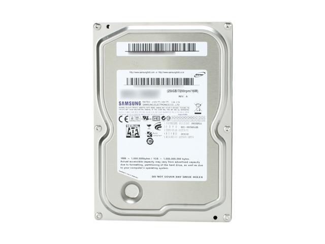 """SAMSUNG Spinpoint F3 ST250DM001 / HD253GJ 250GB 7200 RPM 16MB Cache SATA 3.0Gb/s 3.5"""" Internal Hard Drive -Bare Drive"""