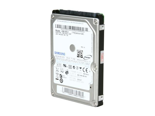 "SAMSUNG SpinPoint MT2 HM100UI 1TB 5400 RPM 8MB Cache SATA 3.0Gb/s 2.5"" Internal Hard Drive Bare Drive"