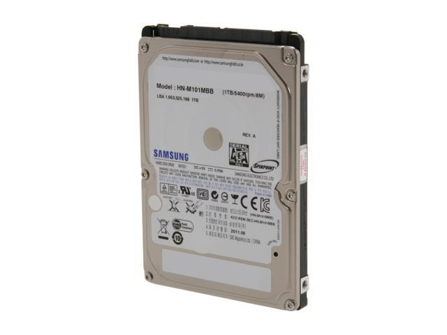 "SAMSUNG Spinpoint M8 ST1000LM024 (HN-M101MBB/EX2) 1TB 5400 RPM 8MB Cache SATA 6.0Gb/s 2.5"" Internal Notebook Hard Drive Bare ..."