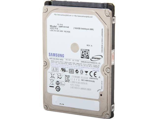 "SAMSUNG Spinpoint M7E ST160LM000/HM161GL 160GB 5400 RPM 8MB Cache SATA 3.0Gb/s 2.5"" Internal Notebook Hard Drive Bare Drive"