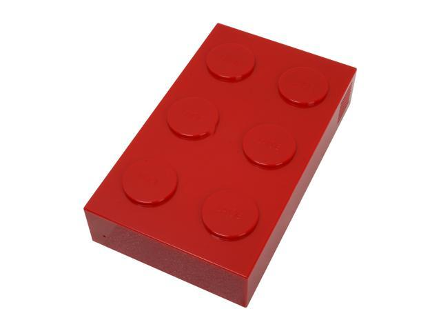LaCie Brick Desktop 500GB USB 2.0 Red External Hard Drive 301065U
