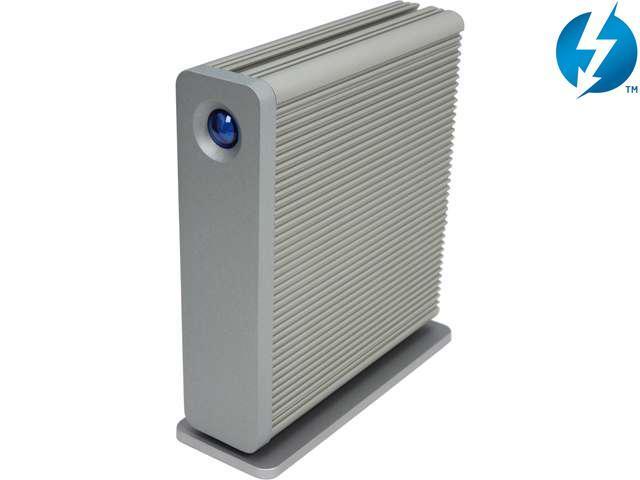 LaCie d2 3TB USB 3.0 / Thunderbolt External Hard Drive 9000353 Silver