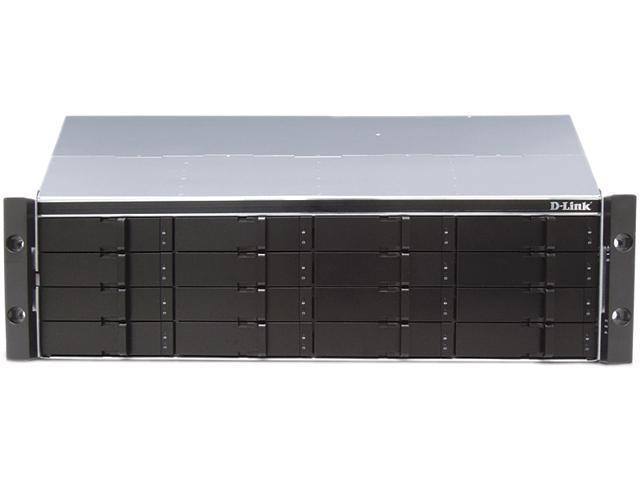 D-Link DSN-4100 Diskless System xStack Storage 4x1GbE iSCSI SAN Array, 16-Bay Rackmount