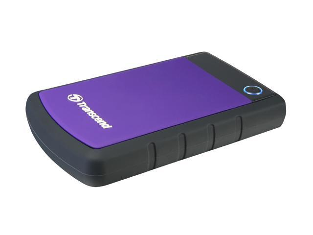 Transcend 1TB StoreJet 25H3 Military-grade Shock Resistance Portable External Hard Drive USB 3.0 Model TS1TSJ25H3P Purple