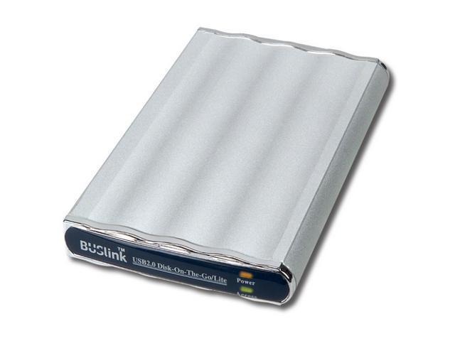 "BUSlink Disk-On-The-Go 80GB USB 2.0 2.5"" External Slim Drive DL-80-U2"