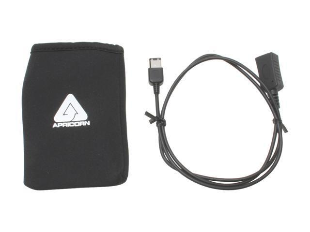 Apricorn 80GB portable Firewire Hard drive w/integrated cable
